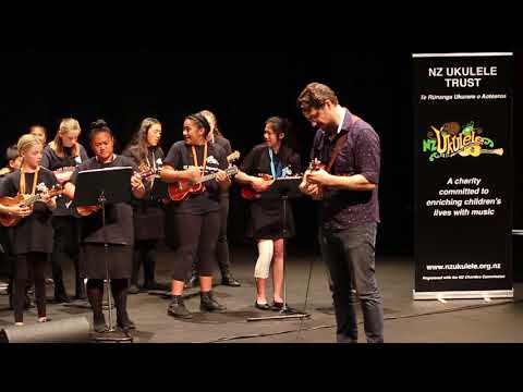 rehearsal for NZ Ukulele Squads Concert - Alexander's Ragtime (Big) Band - James Hill solo