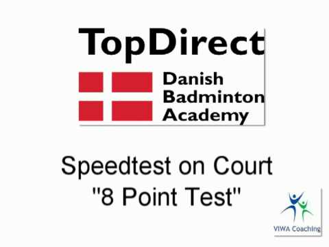 Fast feet - badminton no. 2 - speed test on court