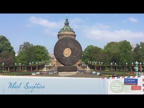 Tour of Mannheim Germany landmarks Video 1 - Wamahlife