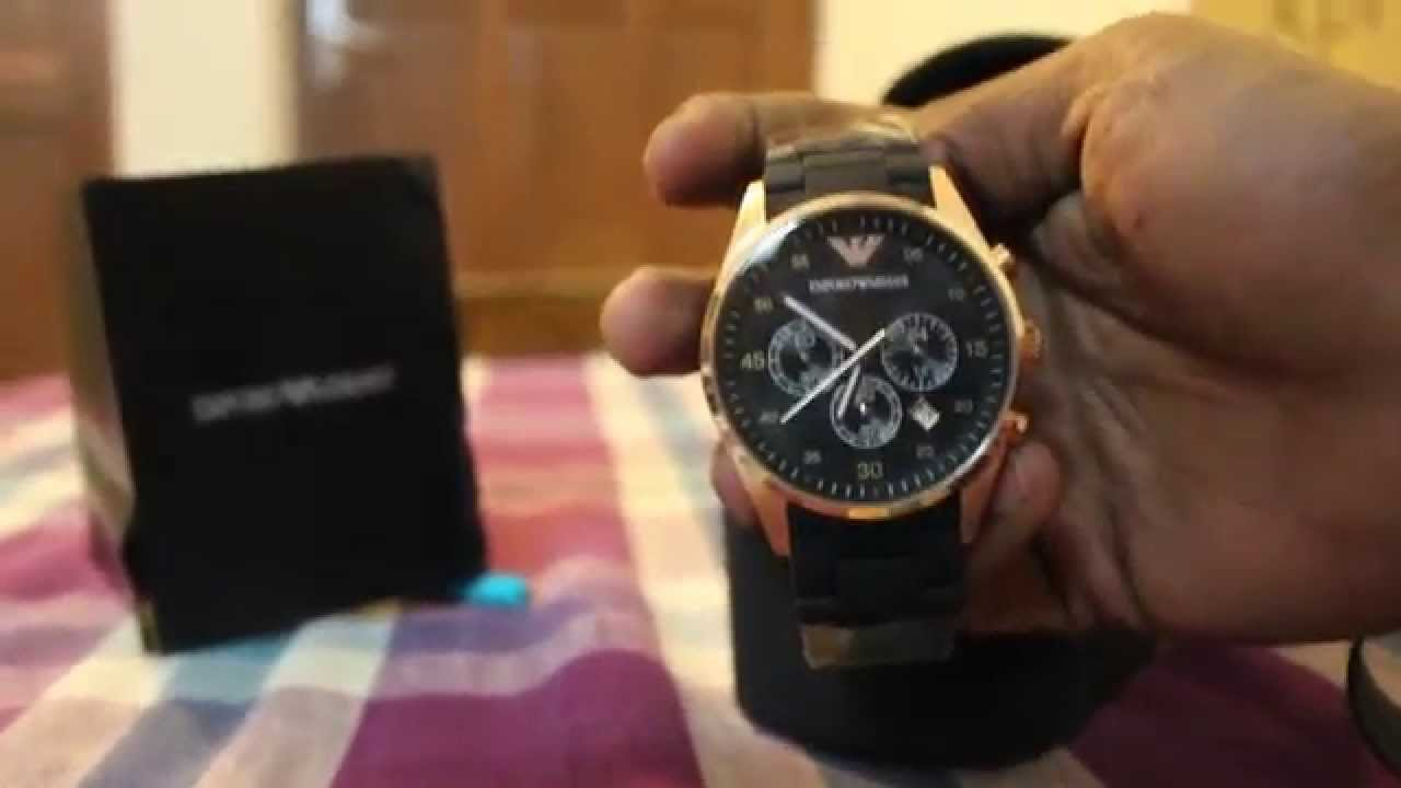 Emporio Armani Ar-5905 unboxing and review - YouTube ade933d6ce8