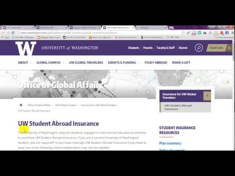 Global travel or study  01 |  University of Washington