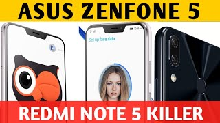 Asus zenfone 5 2018 : Review of Specification, price and availability in India.