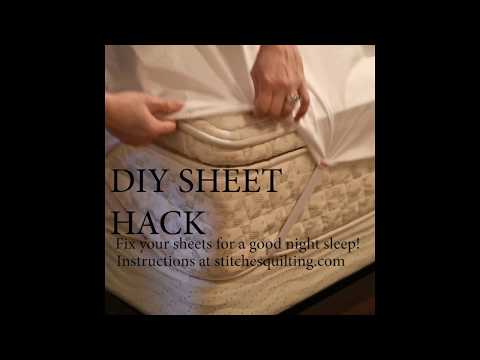 DIY Sheet Hack -  Stay Put Fitted Sheet