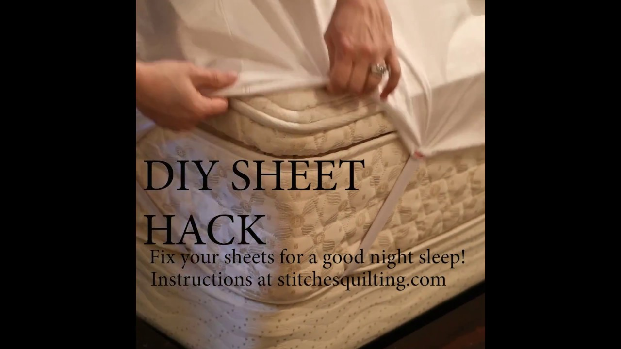 Diy Sheet Hack Stay Put Fitted Sheet Youtube