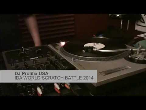 DJ Prolifix USA Semi Finals IDA SCRATCH BATTLE