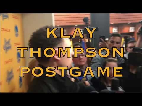 Entire KLAY THOMPSON interview from postgame at Oracle Arena, 2018 WCF G4