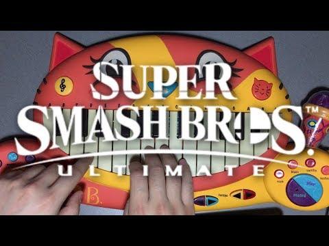Super Smash Bros Ultimate Theme On Cat Piano Youtube