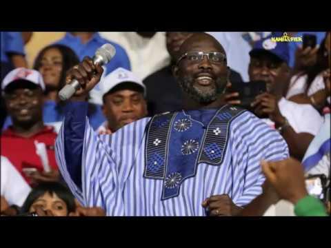 LIBERIA : GEORGE WEAH ÉLU PRÉSIDENT DU LIBERIA