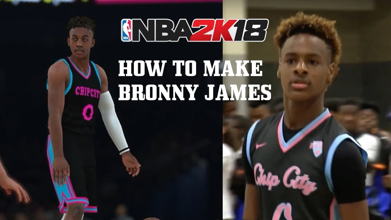 sports shoes 283ab 5bb95 (UPDATED) HOW TO MAKE BRONNY JAMES (LBJ JR) IN NBA 2k18 + JERSEYS