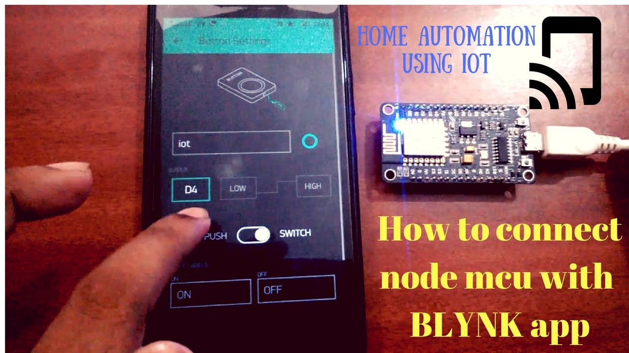 How To Connect Nodemcu Esp8266 With Blynk Iot Youtube