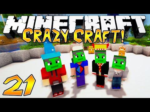 """MODDED HULK ARMOUR BATTLE!"" - Crazy Craft 2.1 (Minecraft Modded Survival) - #21"