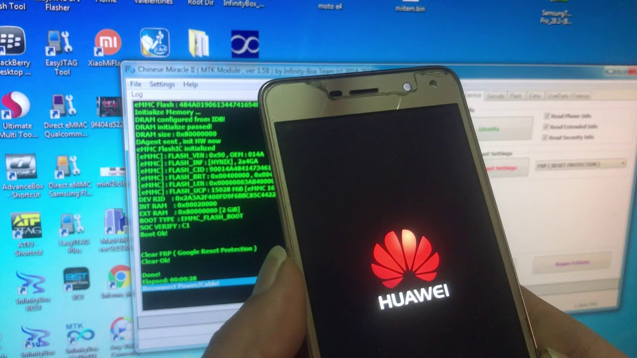 Huawei Y5 2017 Mya–L22 frp Remove Success