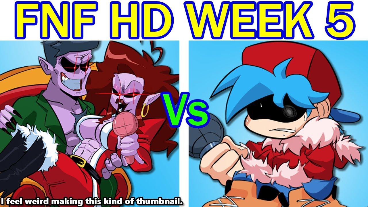Friday Night Funkin' HD Mod Week 5 Update - FULL WEEK + Cutscenes (FNF HD Mod/Hard) + DATE WEEK