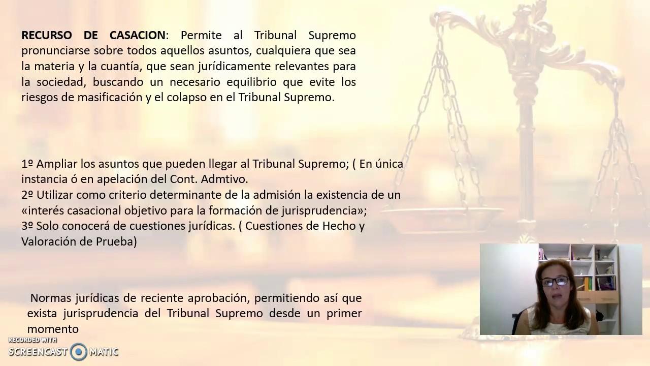 Resumen Recurso: Alzada,Casación,Hecho - YouTube