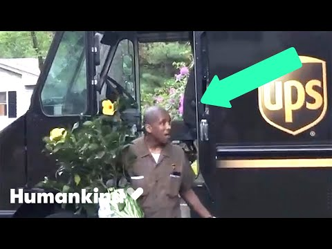 Neighbors crowd the street to thank UPS driver   Humankind