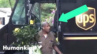 Neighbors crowd the street to thank UPS driver | Humankind