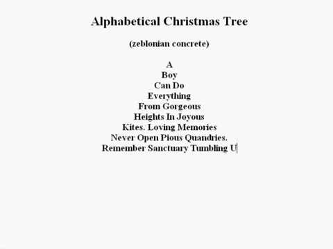 Alphabetical Christmas Tree - YouTube