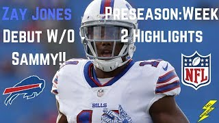 Zay Jones || Full Highlights || First Game Without Sammy! || 8/17/2017