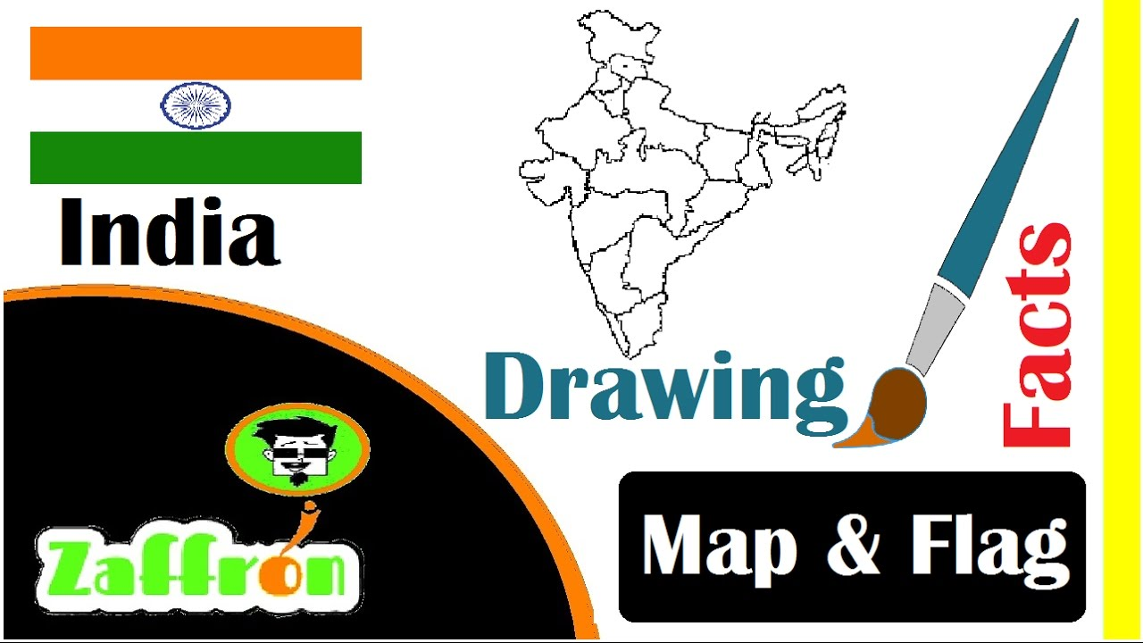 Learn India Country Facts, Geography, Map & Flag Drawings | تعلم ...