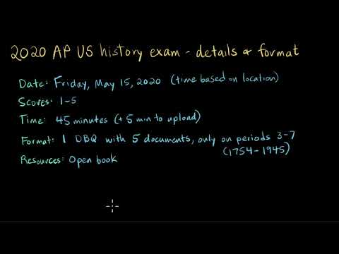 Quick Guide To The 2020 AP US History Exam | AP US History | Khan Academy