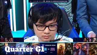 SN vs JDG - Game 1   Quarter Finals S10 LoL Worlds 2020 PlayOffs   Suning vs JD Gaming G1 full game