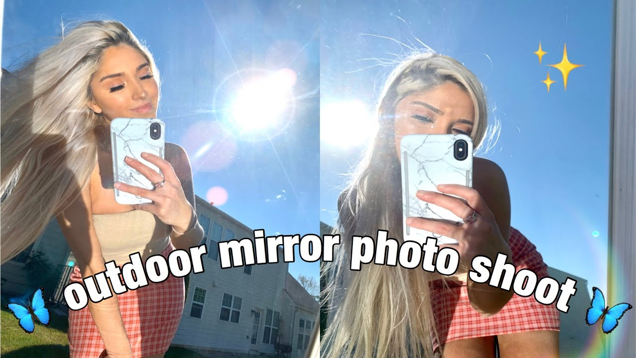 Tiktok Trend How To Take Pictures Outside With A Mirror Challenge Using An Iphone Youtube