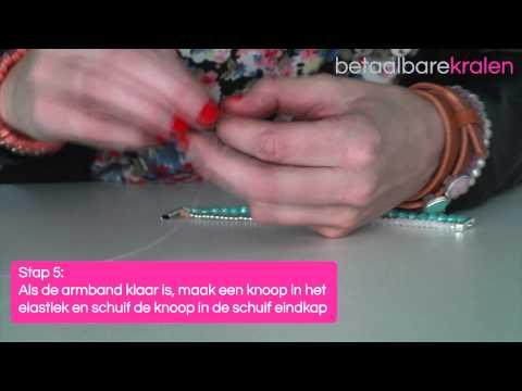 Sieraden maken: Hoe maakt u een armband met schuif eindkappen? ♡ DIY