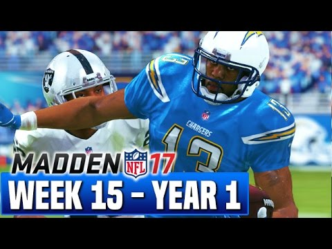 Madden 17 Chargers Franchise Year 1 - Week 15 vs Raiders - Ep.15
