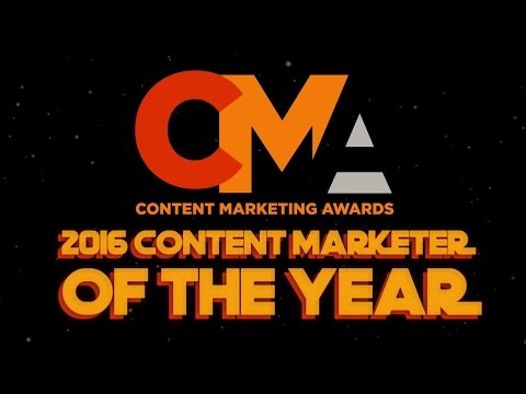 2016 Content Marketing Awards - Content Marketer of the Year