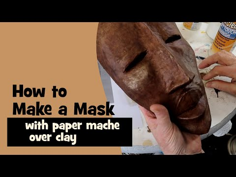 Paper Mache African Mask - A Fast, Easy Project