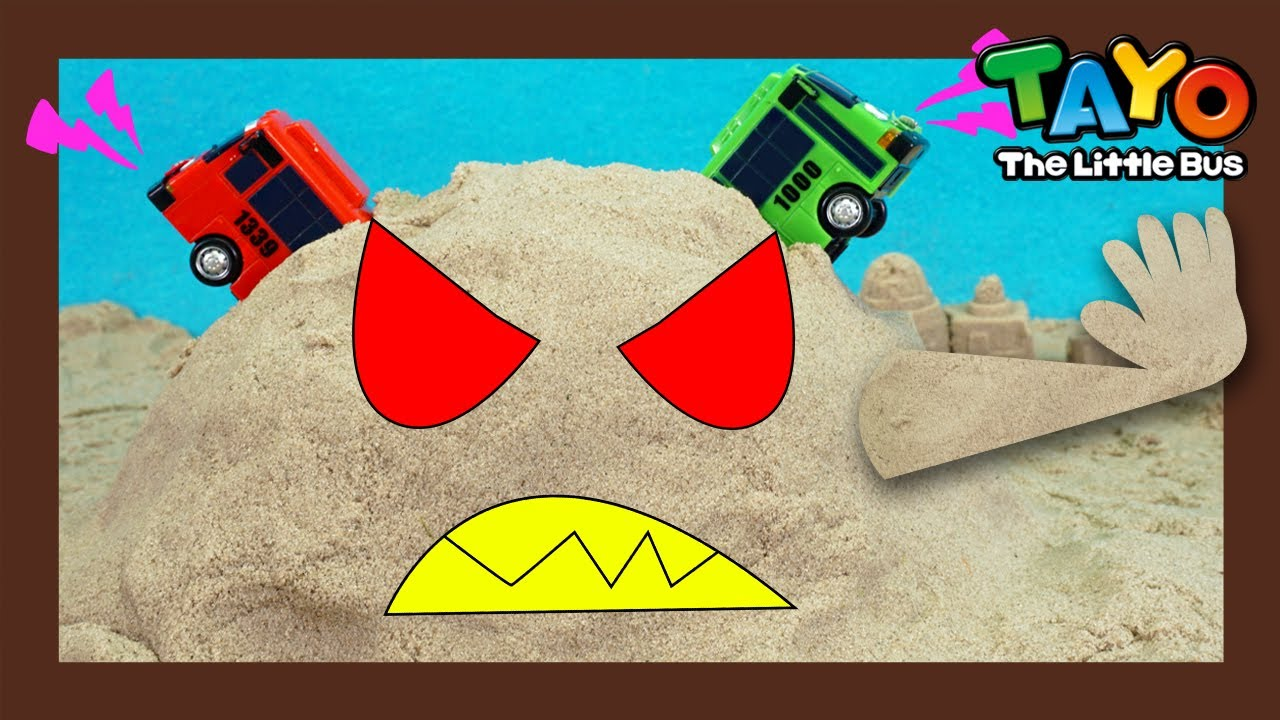 The sand monster attacks! l Tayo Fire truck Rescue Team l Tayo the Little Bus