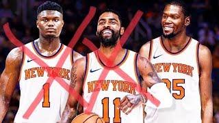 Knicks Trouble! Nets $46M Cap Space! Kyrie Interest! 2019 NBA Free Agency