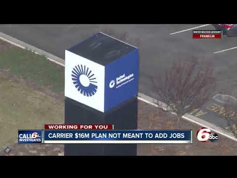 Carrier's $16M plan will not add new jobs