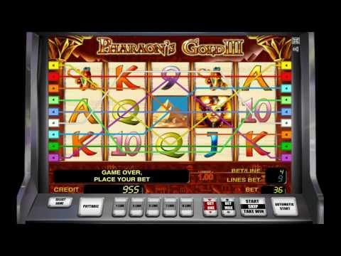 Как играть в игровой автомат Pharaoh's Gold III. Обучающее видео.