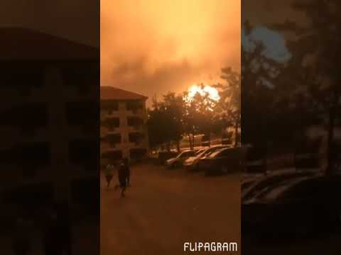 Video: People running away from gas explosion in Accra