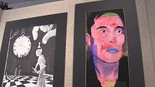 Burlington High School art students joined with students in the are...
