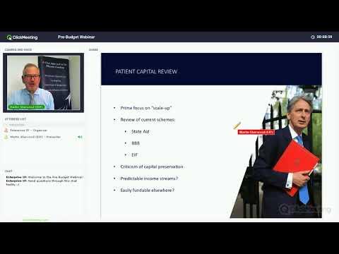 Pre-Budget Webinar | Martin Sherwood | Enterprise Investment Partners