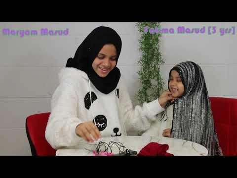 💜 HIJAB TUTORIAl: Maryam is doing a hijab tutorial on Fatima