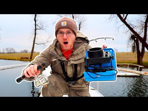 Ice Fishing With NO Ice... Does It Work??
