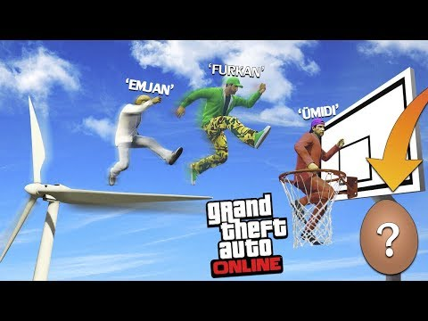 EFSANE PARKURU BİTİR SÜRPRİZ YUMURTAYI KAP !! - GTA 5 Online (FurkanYaman,Sesegel,Ümidi)