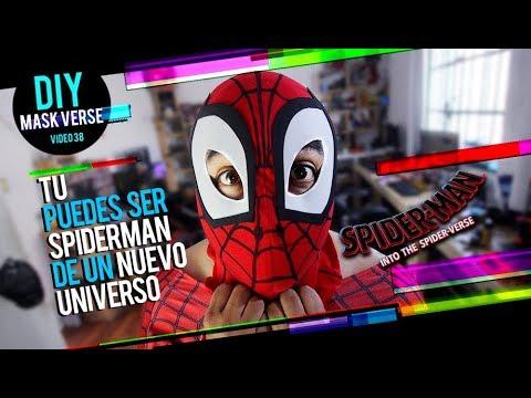 Spider-Man Into the Spider-Verse : Mask / Mascara - DIY - FER