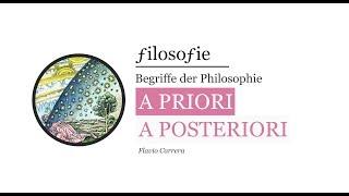 A priori und a posteriori - Wichtige Begriffe der Erkenntnistheorie