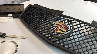 Video Matte black mesh grill for 03-07 Cadillac CTS by Spec-D Tuning first look (HG-CTS03BB-V2-RS) download MP3, 3GP, MP4, WEBM, AVI, FLV Juli 2018