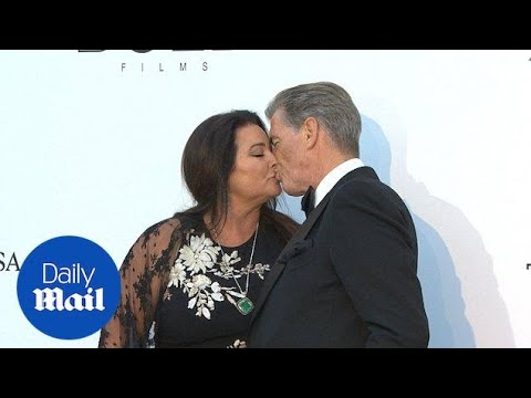 Pierce Brosnan locks lips with wife Keely Shaye Smith in Cannes - Daily Mail