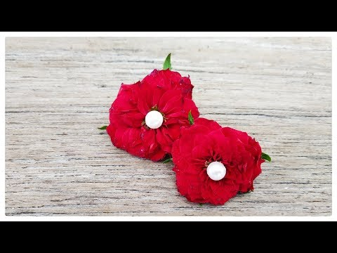 How to make flower jewellery - flower earrings | Model 1