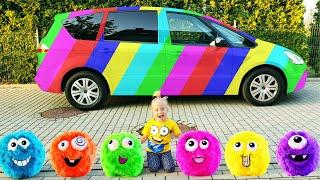 Алиса и папа их истории про разноцветные сладости