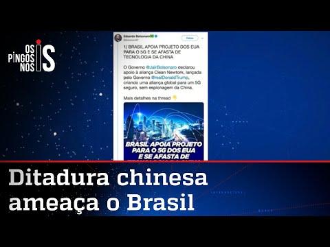 China rebate Eduardo Bolsonaro e ameaça o Brasil