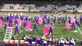 Monta Vista Band and Guard at Homecoming  2016