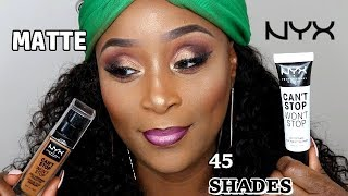 NYX CAN'T STOP WON'T STOP FOUNDATION & PRMER REVIEW!!