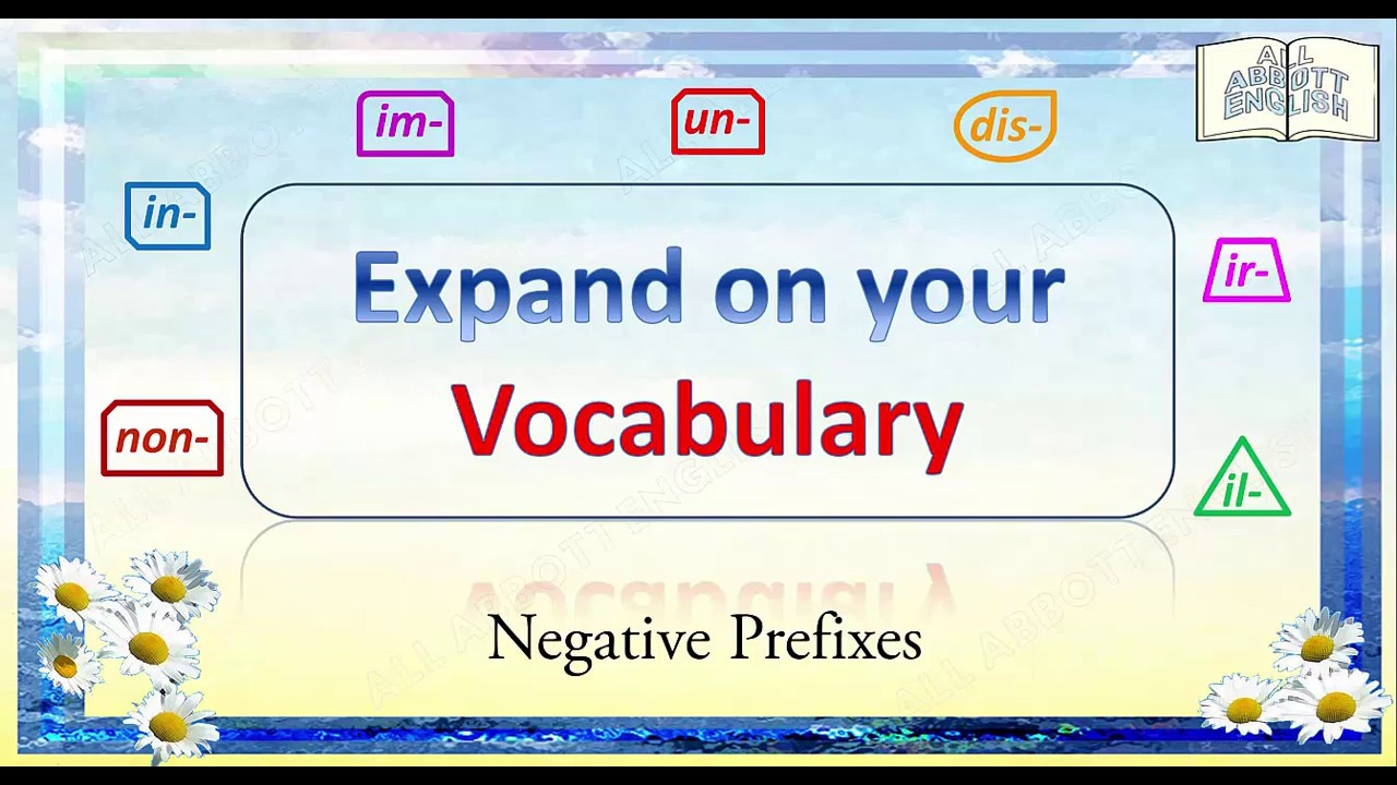 Dissertation on negative prefixes in english